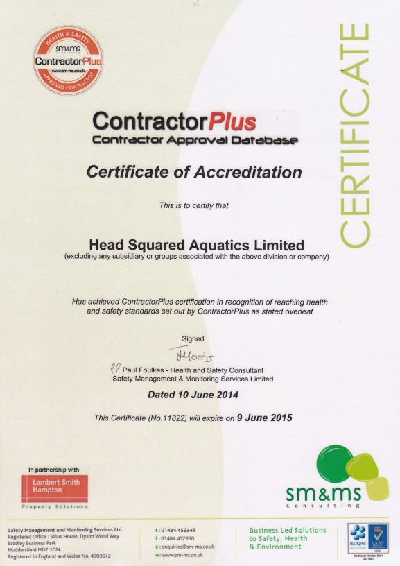 ContractorPlus Certificate of Accreditation