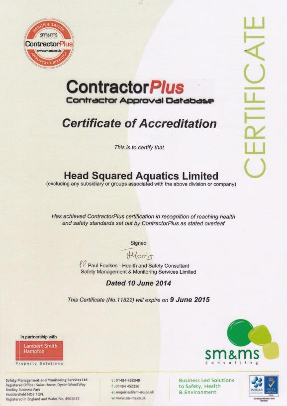 ContractorPlus Certificate of Accreditation
