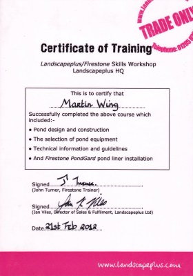 Firestone Skills Workshop certificate