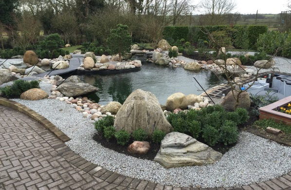 Concrete reinforced Koi Pond with Island (Leicestershire)