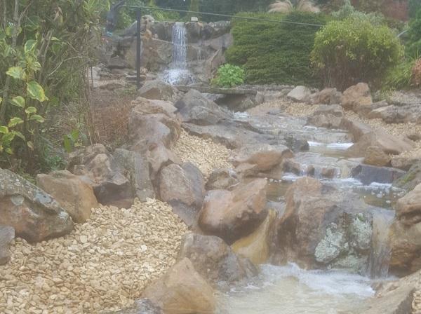 Waterfall Fibreglass Clear