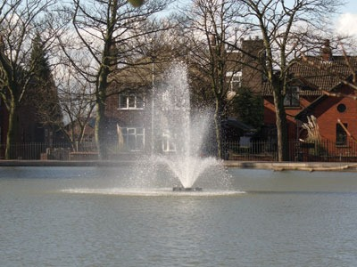 Large Water Body fountain system