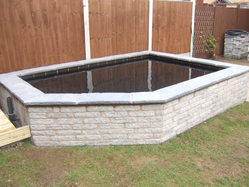 Mr barber 39 s new build formal pond for Wooden koi pond construction
