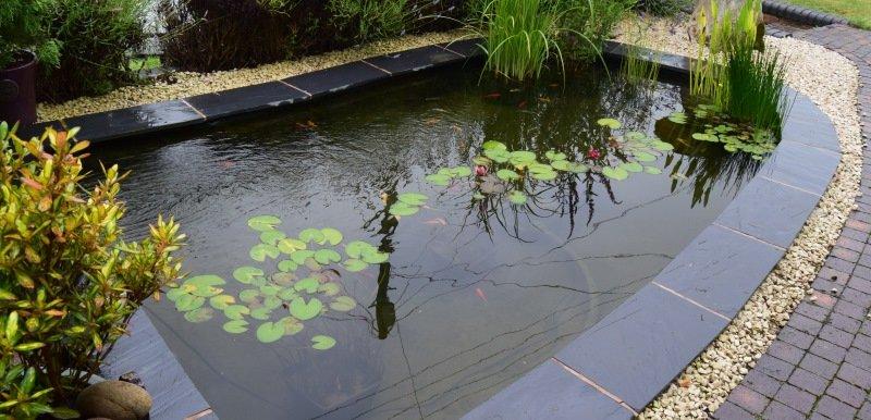 Pond with slate Edge