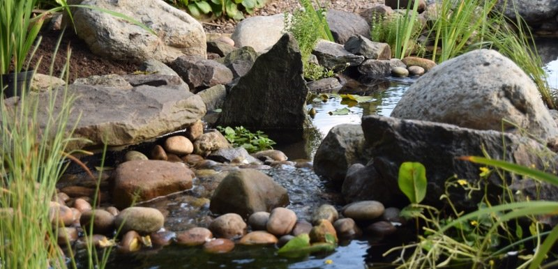 Waterfall Stream with Rocks